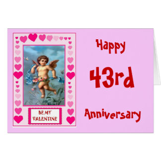 Change the numbers Flying cupid Greeting Card