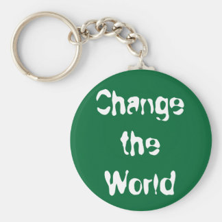 Change the World keychain