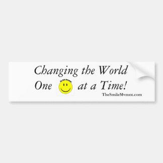 Change the World Smile Movement Bumper Sticker