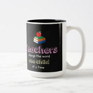 Change the world Two-Tone coffee mug