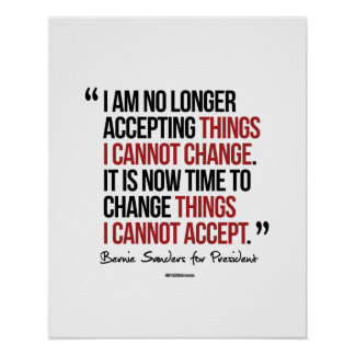 Change things I cannot accept Poster