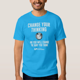 Change Thinking: Contrived Platitudes T-shirt DK