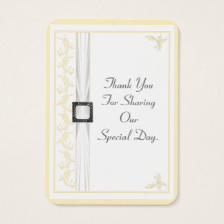 Change to any color lace wedding thank you tag