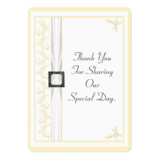 Change to any color lace wedding thank you tag large business cards (Pack of 100)