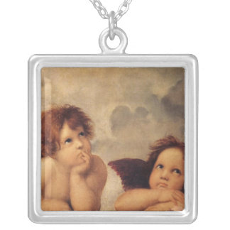 Change to your favorite art or design silver plated necklace