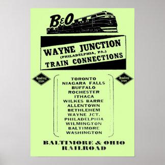 Change Trains at Wayne Junction 1950 Poster