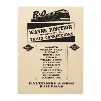 Change Trains at Wayne Junction 1950 Wood Wall Decor