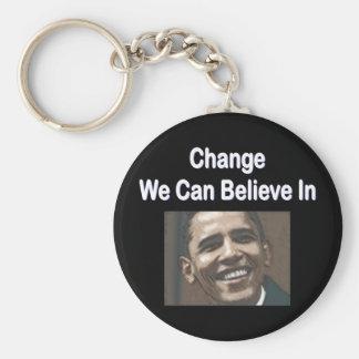 """Change We Can Believe In"" Black Keychain"