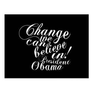 Change We Can Believe In Postcard