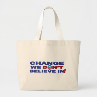 Change-we-don't-believe-in Canvas Bags
