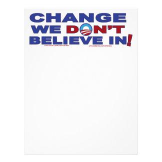 Change-we-don't-believe-in Personalized Letterhead