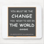 Change-World-Gandhi Mousepad