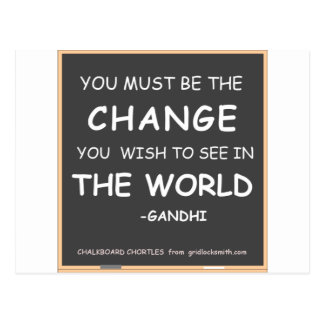 Change-World-Gandhi Postcard
