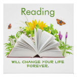 Change Your Life with Reading Poster
