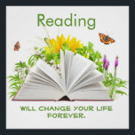 """Change Your Life with Reading Poster<br><div class=""""desc"""">The perfect classroom poster designed to inspire positive thinking about reading.  Created especially for intermediate and high school students but would be appropriate in any setting,  particularly classes with struggling readers who need positive messages about the value of literacy.</div>"""