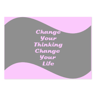 Change Your Thinking, Change Your Life Business Card Template