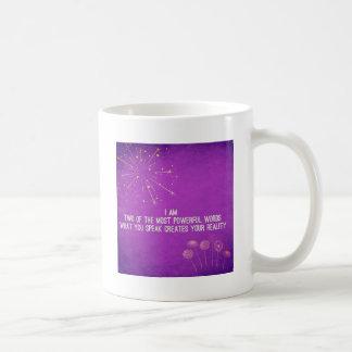 Change your words, change your mindset classic white coffee mug