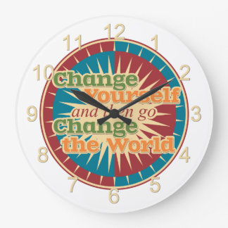Change Yourself Large Clock