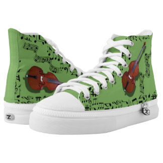 CHANGEABLE BACKGROUND COLOR -BASS- High-Top SNEAKERS