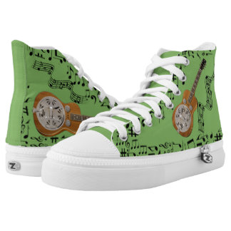 CHANGEABLE BACKGROUND COLOR -DOBRO- High-Top SNEAKERS