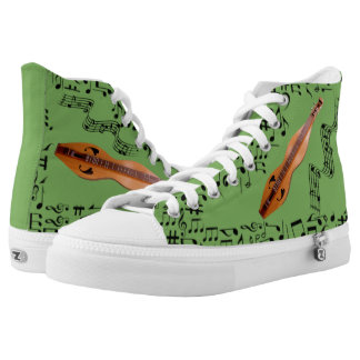 CHANGEABLE BACKGROUND COLOR -DULCIMER- High-Top SNEAKERS