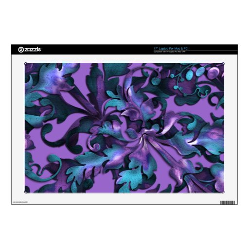 Changeable Background Color Fabulous Foliage Laptop Decal