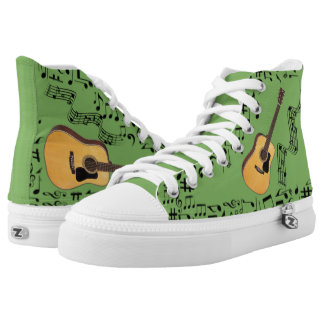 CHANGEABLE BACKGROUND COLOR -GUITAR- High-Top SNEAKERS