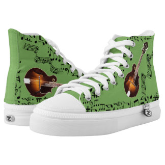 CHANGEABLE BACKGROUND COLOR -MANDLIN- High-Top SNEAKERS