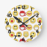 Changeable background smileys clock