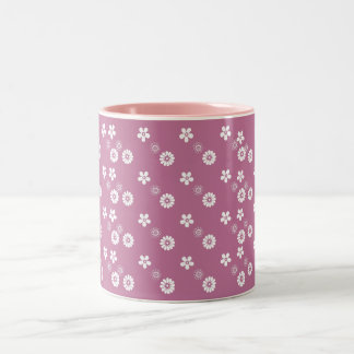Changeable Color background retro style floral mug