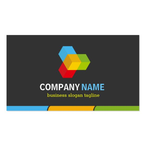 Changeable Logo - Stylish Dark Colorful Corporate Business Card (back side)