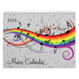 Changeable Year Music Calendar
