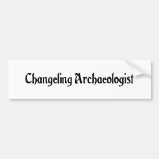 Changeling Archaeologist Sticker Car Bumper Sticker