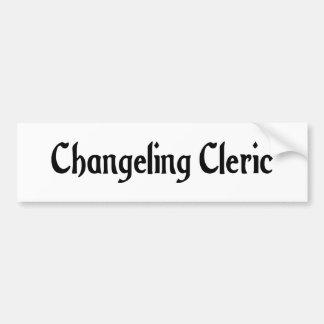 Changeling Cleric Bumper Sticker