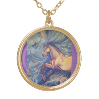 Changes Fine Art Print Gold Plated Necklace
