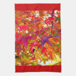 Changing Colors Fall Autumn Leaves Kitchen Towel