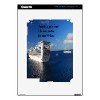 Changing direction in life Inspirational quote Decals For iPad 3
