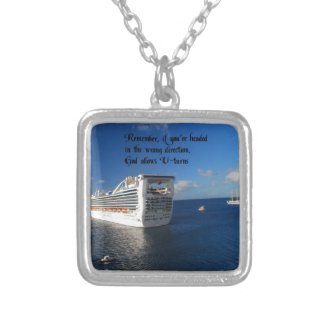 Changing direction in life personalized necklace