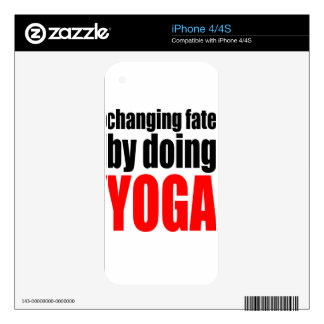 CHANGING FATE doing yoga lazy workout wife husband Skin For iPhone 4