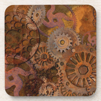 Changing Gear - Steampunk Gears & Cogs Drink Coaster