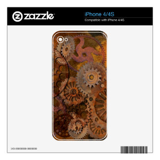 Changing Gear - Steampunk Gears & Cogs iPhone 4S Decals