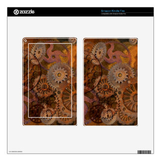 Changing Gear - Steampunk Gears & Cogs Skins For Kindle Fire