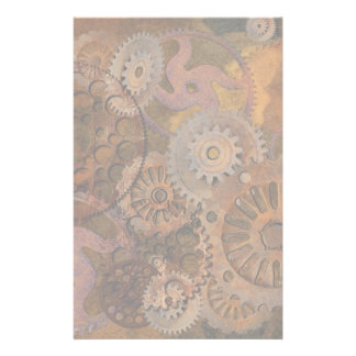 Changing Gear - Steampunk Gears & Cogs Stationery