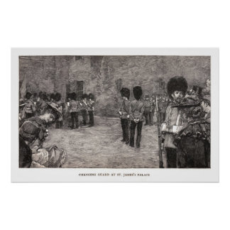Changing Guard at St. James's Palace Poster