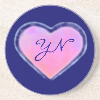 Changing Heart monogram coaster