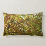 Changing Maple Tree Green and Gold Autumn Lumbar Pillow