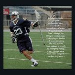 """Changing Myself Lacrosse Poster<br><div class=""""desc"""">The Changing Myself poster will challenge and inspire your young athlete. Photo by Chris Senese. All designer proceeds go to The Kelly Anne Dolan Memorial Fund and The Breathing Room Foundation,  two organizations that aid families in a medical crisis.</div>"""