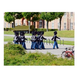 Changing of the Guard, Copenhagen, Denmark Postcard