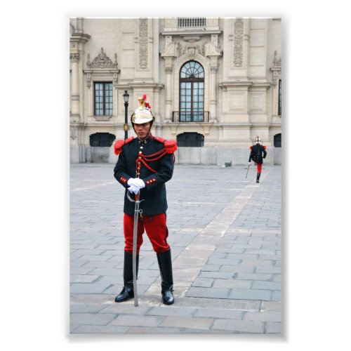 Changing Of The Guard, Lima, Peru Photo Print