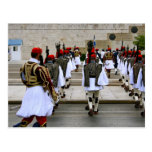 Changing of the guards in Athens Greece Postcard